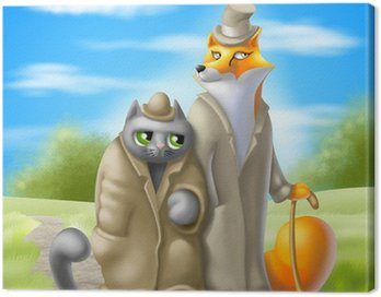Obraz na Płótnie Kotów i lisów