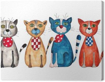 Obraz na Płótnie Koty. Akwarele na papierze