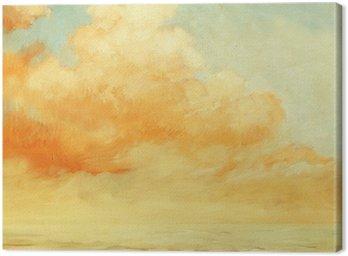 Obraz na Płótnie Krajobraz morze z chmurą, ilustracja, malarstwo olej na przez
