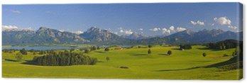 Obraz na Płótnie Krajobraz panorama w Bawarii z Alp