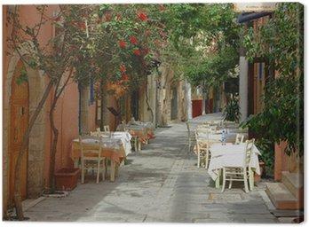 Obraz na Płótnie Kreta Retimno ruelle restauracja et
