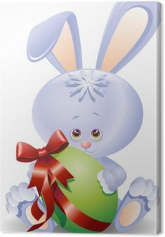 Królik Easter Egg-Cartoon Królik i Easter Egg-vector