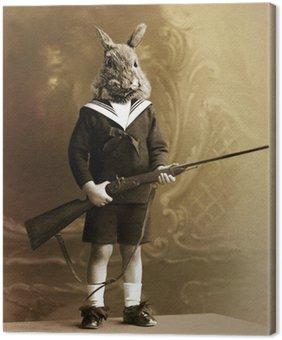 Obraz na Płótnie Królik hunter