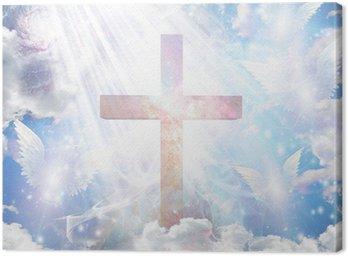 Krzyż i anielskie postacie