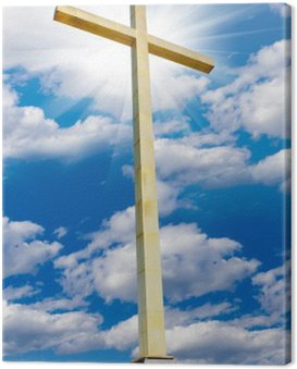 Obraz na Płótnie Krzyż na niebie. Religia i wiara pojęcie.