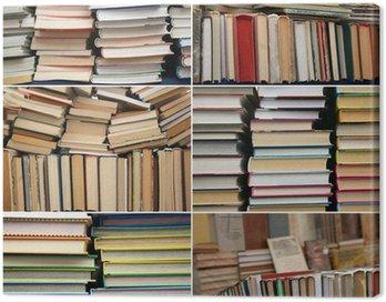 Obraz na Płótnie Książki, czytanie, biblioteka, sklep, collage