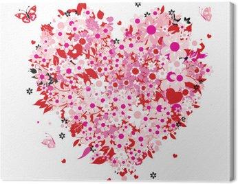 Obraz na Płótnie Kształt serca kwiatu