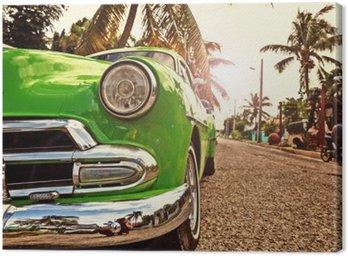 Obraz na Płótnie Kuba Vintage samochód w Hawanie