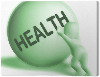 Obraz na Płótnie Kula pokazuje zdrowia górę zdrowe samopoczucie medycznej