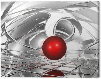 Obraz na Płótnie Kula w abstrakcyjnej przestrzeni