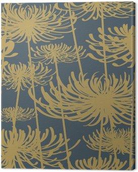Obraz na Płótnie Kwiat bez szwu wzór styl vintage