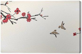 Obraz na Płótnie Kwiat malowanie
