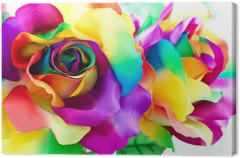 Obraz na Płótnie Kwiat róży fałszywe