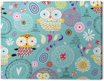 Obraz na Płótnie Kwiat tekstury z sowy