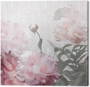 Obraz na Płótnie Kwiatów projektowania piwonie