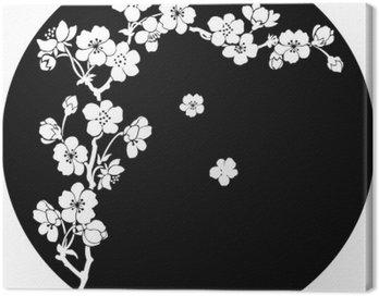 Obraz na Płótnie Kwitnącej wiśni atramentem