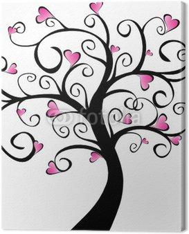Obraz na Płótnie Kwitnienia drzew - różowe serca