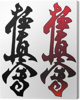Obraz na Płótnie Kyokushinkay karate symbol