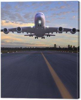 Obraz na Płótnie Lądowanie samolotu 3D ilustracji