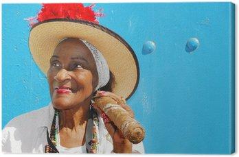 Obraz na Płótnie Lady cygar w Hawanie na Kubie