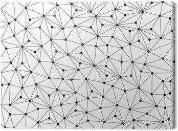 Obraz na Płótnie Łamana w tle, bez szwu wzór, linie i okręgi