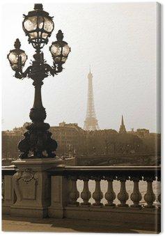 Obraz na Płótnie Latarni na moście Aleksandra III w Paryżu, Francja