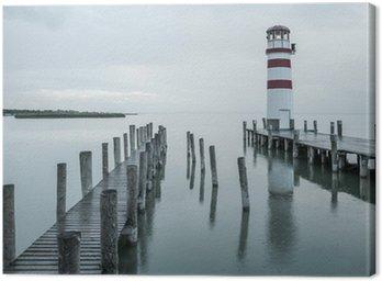 Obraz na Płótnie Latarnia morska w deszczu