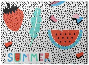 Lato szwu z bananów i arbuza w stylu pop-art.