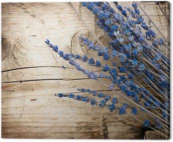 Obraz na Płótnie Lavender nad background.with drewna kopii przestrzeń