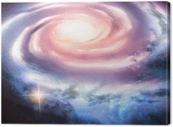 Obraz na Płótnie Light Years Away - odległa galaktyka spiralna.