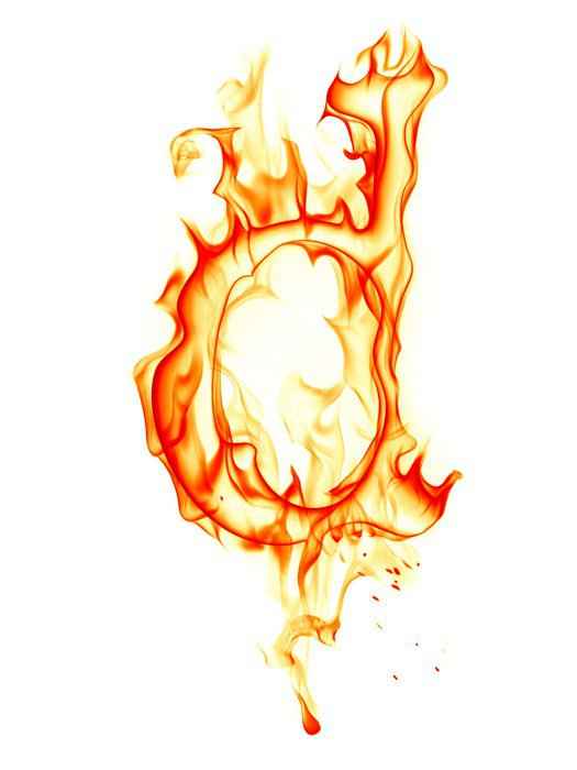 Obraz na Płótnie List ognia - Tekstury