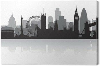 Obraz na Płótnie London city skyline sylwetka
