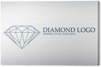 Obraz na Płótnie Luksusowe logo, logotyp diament