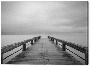 Obraz na Płótnie Lunga Esposizione w bianco e nero