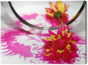 Obraz na Płótnie Lustro kwiat rozmazany