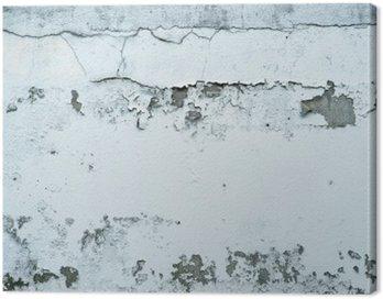 Obraz na Płótnie Łuszczącą się farbę na kamiennym murem