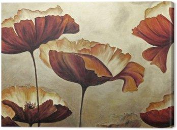 Obraz na Płótnie Malarstwo mak z fakturą