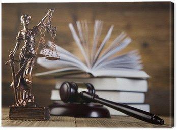 Obraz na Płótnie Mallet, kodeks prawny i skale sprawiedliwości