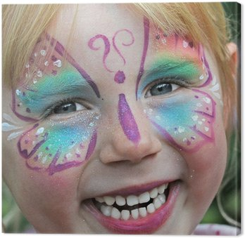 Obraz na Płótnie Malowanie twarzy dzieci na karnawał