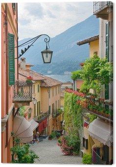 Obraz na Płótnie Malownicze miasto ulica Widok jeziora Como, w