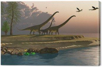 Obraz na Płótnie Mamenchizaur Dinosaur Morning