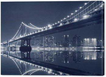Obraz na Płótnie Manhattan Bridge i Manhattan Skyline w nocy