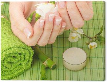 Obraz na Płótnie Manicure - ręce spa, salon kosmetyczny