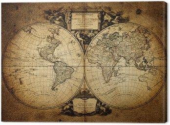Obraz na Płótnie Mapa świata 1752