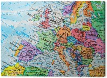 Obraz na Płótnie Mapa świata Globe bliska Europy