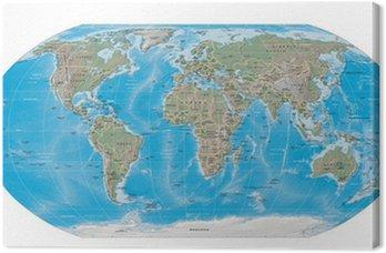 Mapa świata granice fizyczne