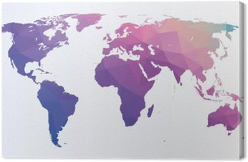 Mapa świata wielokąta