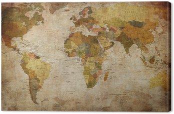 Obraz na Płótnie Mapa świata