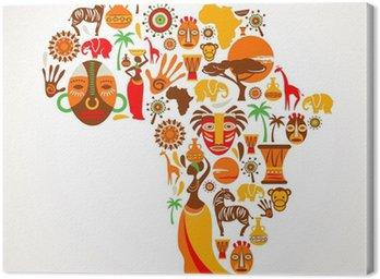 Obraz na Płótnie Mapy Afryki z ikon wektorowych