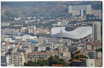 Obraz na Płótnie Marsylia - widok z nowego stadionu Velodrome
